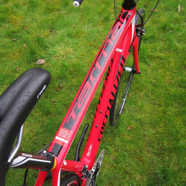 Specialized Tarmac - top tube from top