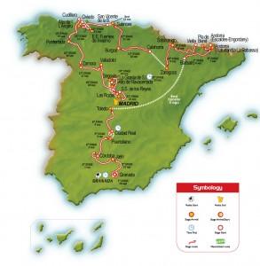 Traseu Vuelta 2008