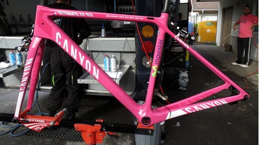 Nairo Quintana's pink Canyon Ultimate SLX
